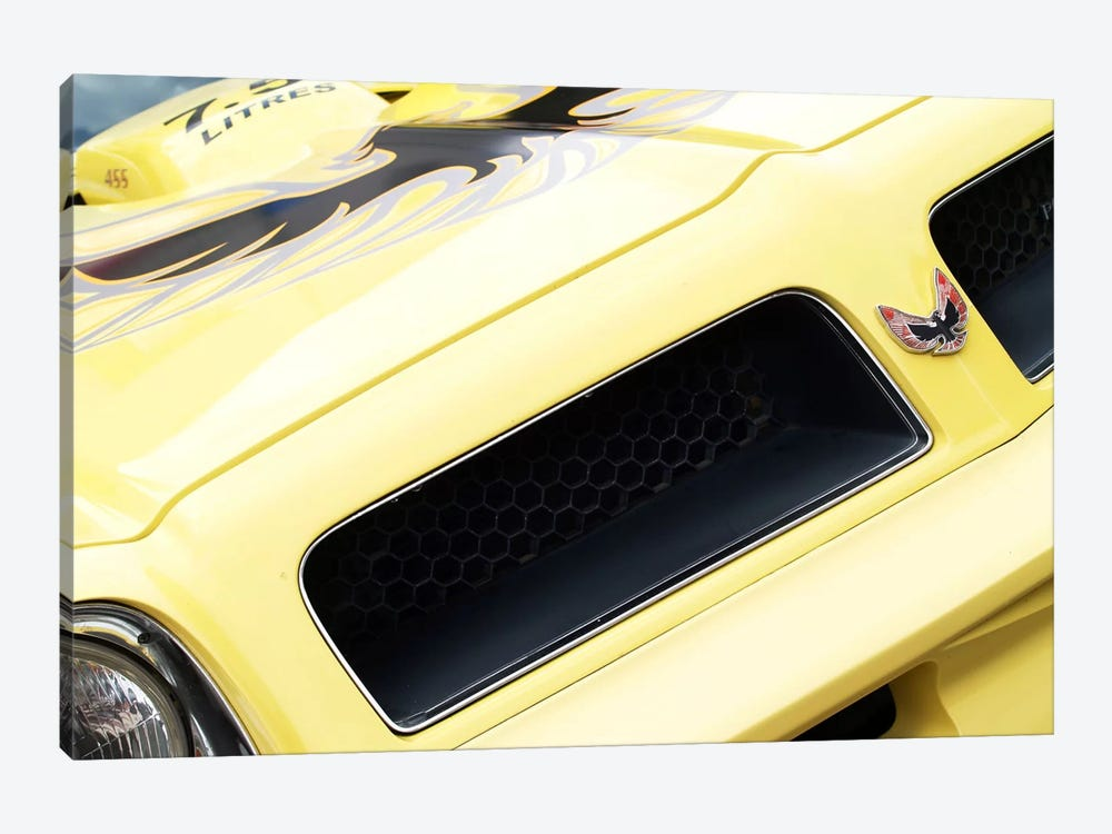 1976 Pontiac Trans Am, Front End Detail by Clive Branson 1-piece Canvas Print