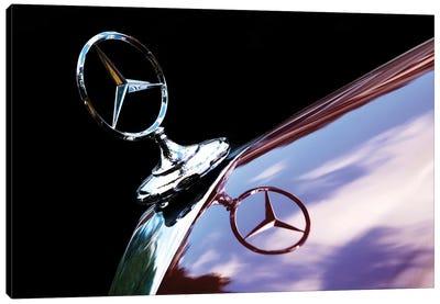 Hood Ornament 53 Mercedes 300 Canvas Art Print