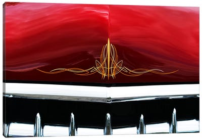 1949 Ford Business Coupe Hood & Grill Canvas Art Print