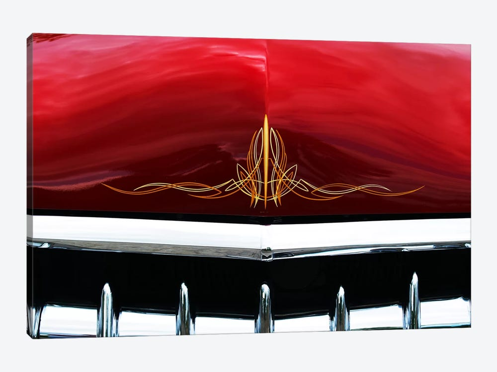 1949 Ford Business Coupe Hood & Grill by Clive Branson 1-piece Canvas Artwork