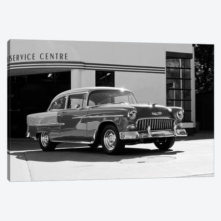 1955 Chevy Bel Air, Black &White Canvas Print #BRA8} by Clive Branson Canvas Print
