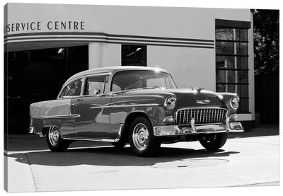1955 Chevy Bel Air, Black &White Canvas Art Print