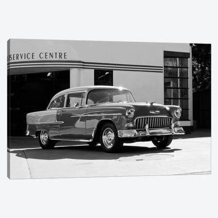 1955 Chevy Bel Air, Black &White Canvas Print #BRA8} by Clive Branson Canvas Print