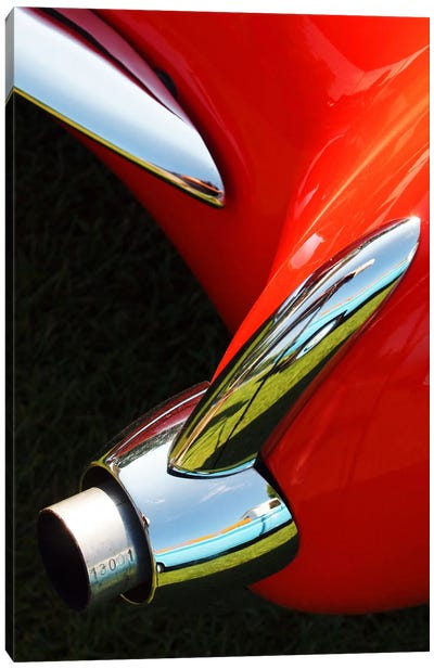 1956 Corvette, Exhaust Canvas Art Print