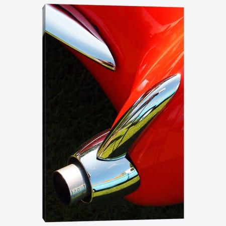 1956 Corvette, Exhaust Canvas Print #BRA9} by Clive Branson Canvas Print
