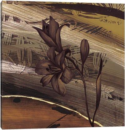Fleurs d'or I Canvas Art Print