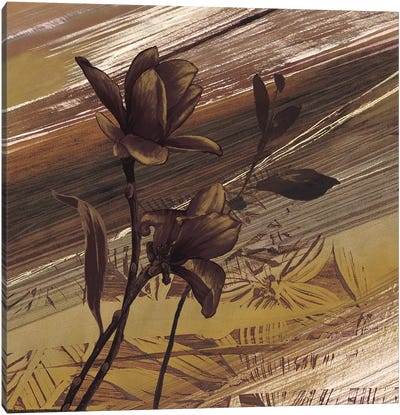Fleurs d'or II Canvas Art Print