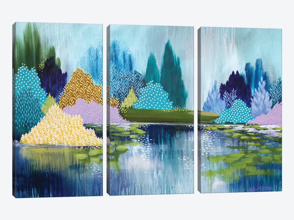 Hyde Park In Spring by Clair Bremner 3-piece Canvas Print