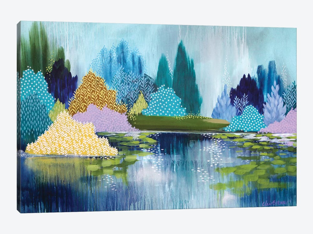 Hyde Park In Spring by Clair Bremner 1-piece Canvas Print