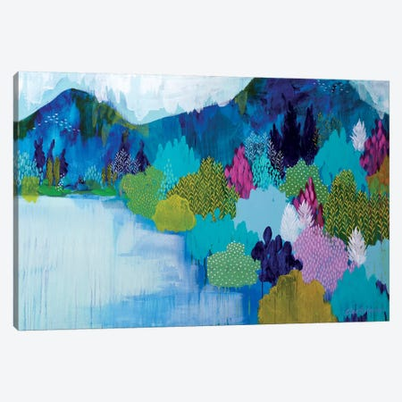 Lake Como Canvas Print #BRE13} by Clair Bremner Canvas Art Print