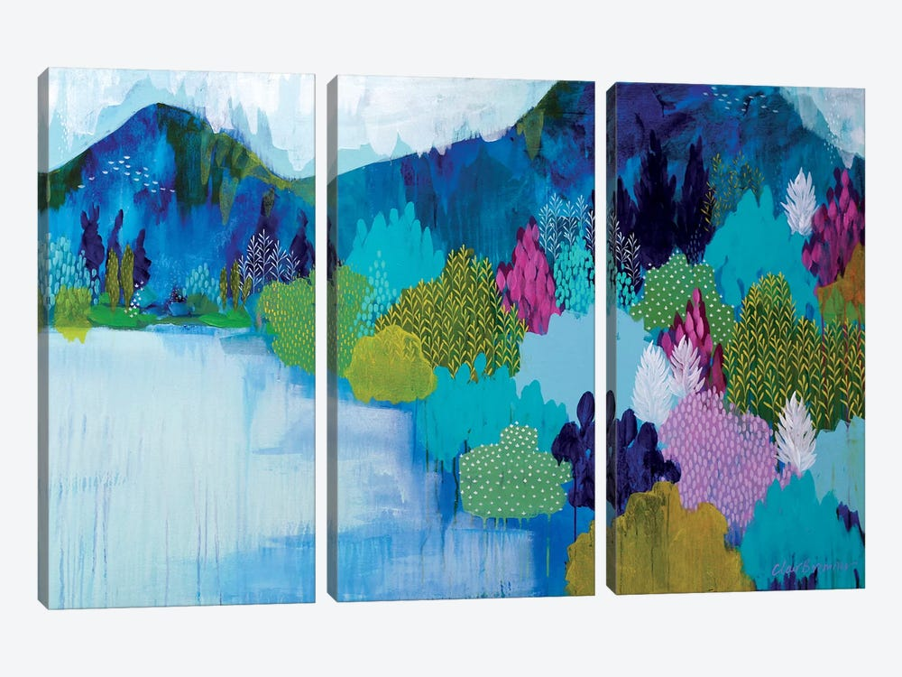 Lake Como by Clair Bremner 3-piece Canvas Artwork