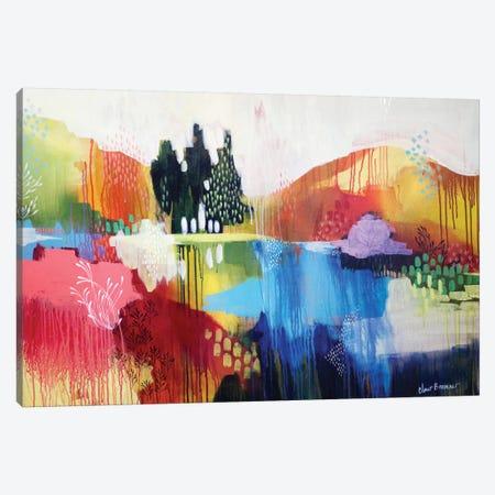 Mountian Sound Canvas Print #BRE17} by Clair Bremner Canvas Artwork