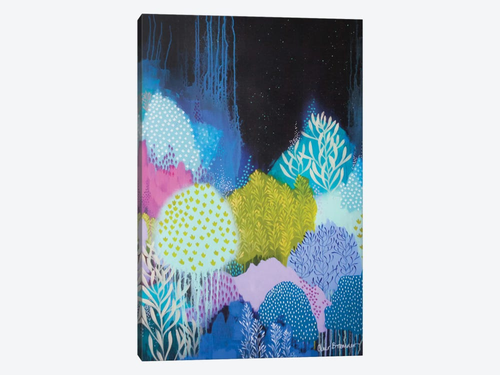 Night Blossoms I by Clair Bremner 1-piece Canvas Art Print