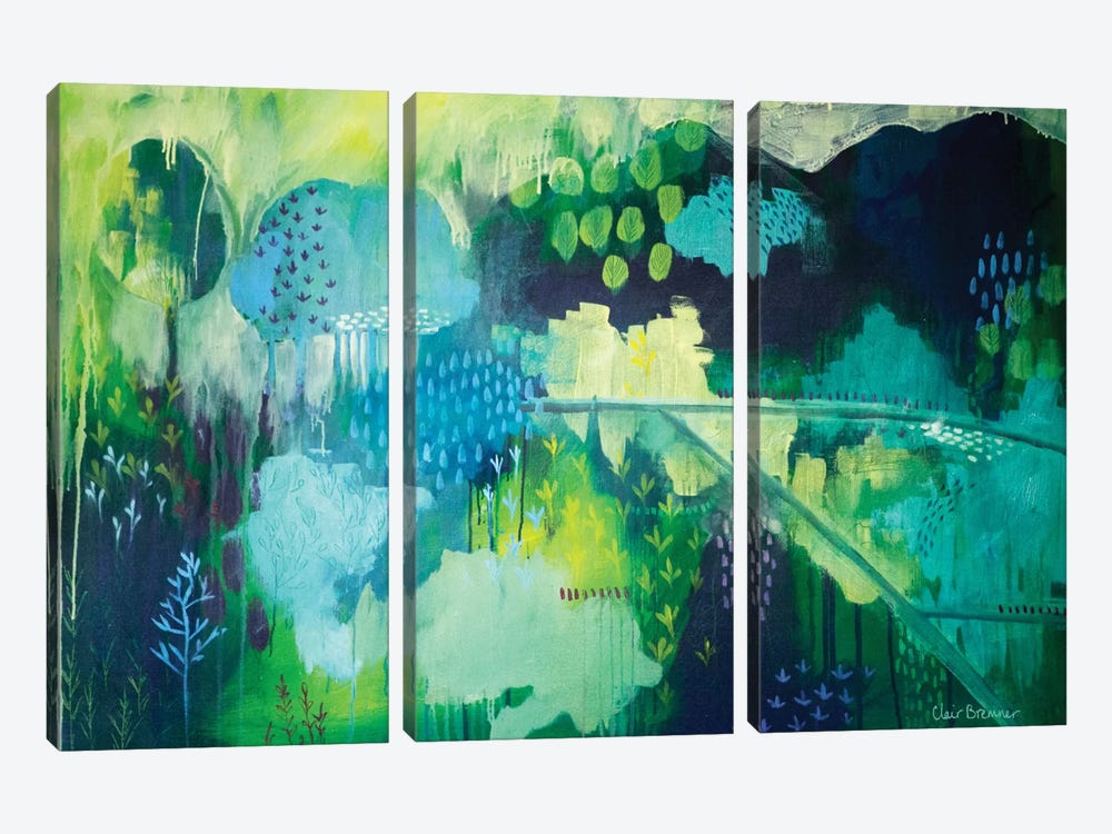 On A Hill by Clair Bremner 3-piece Art Print