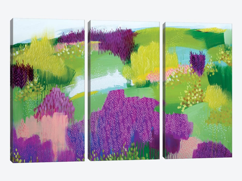 Shades Of Summer by Clair Bremner 3-piece Canvas Print