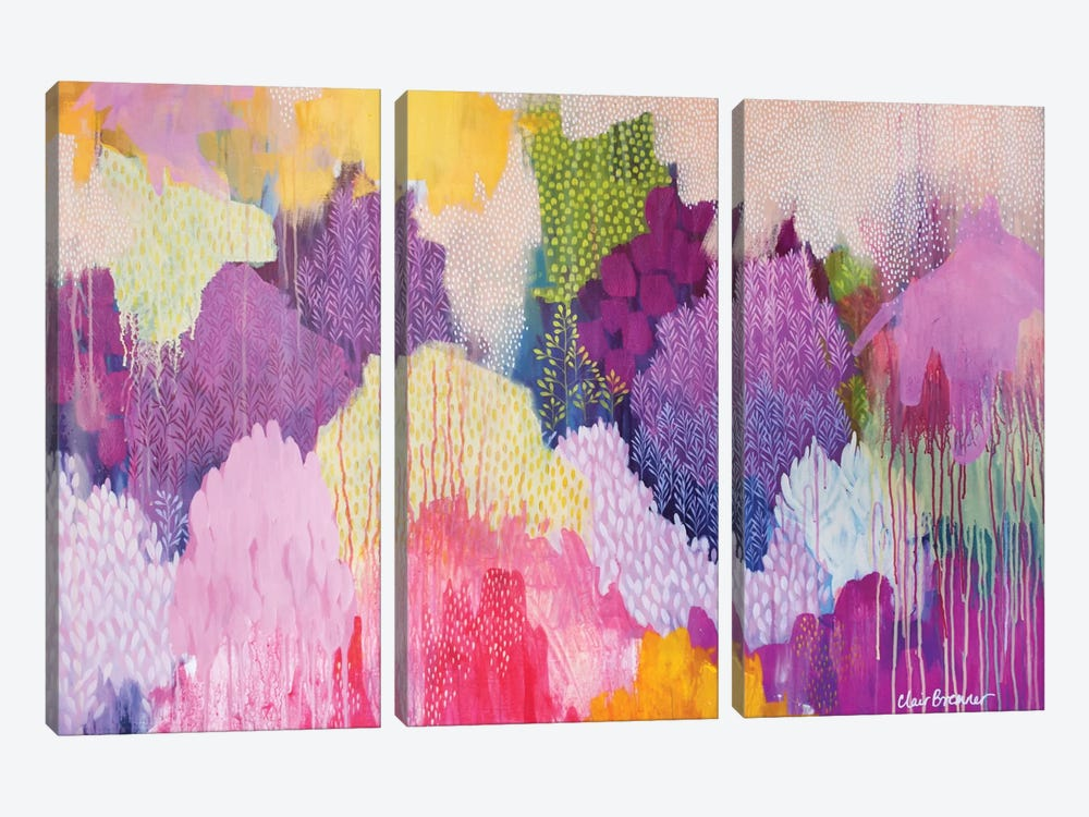 Summer Haze by Clair Bremner 3-piece Canvas Art Print