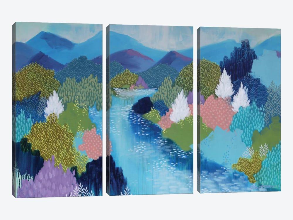 Summer Hills by Clair Bremner 3-piece Canvas Artwork