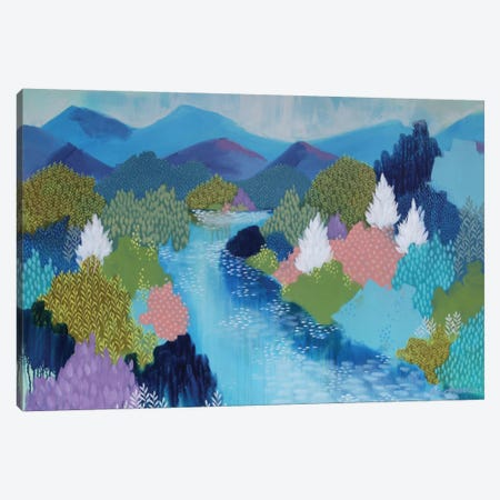 Summer Hills Canvas Print #BRE28} by Clair Bremner Canvas Wall Art