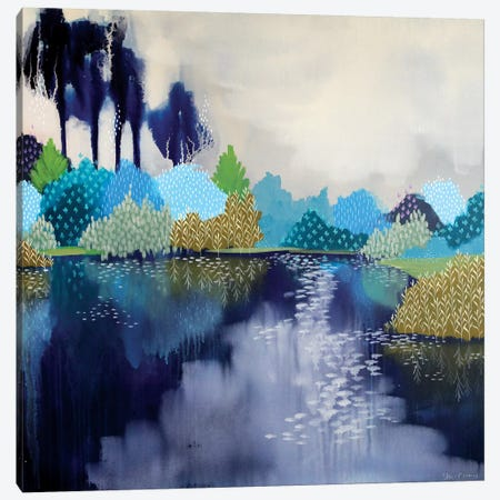 The Swimming Hole Canvas Print #BRE29} by Clair Bremner Canvas Artwork