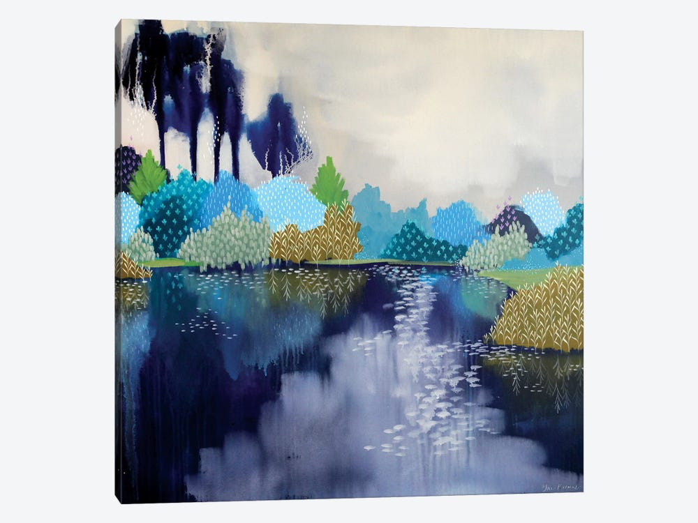 The Swimming Hole by Clair Bremner 1-piece Canvas Art Print