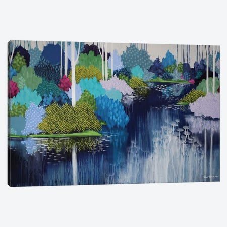 Ghostgums Canvas Print #BRE36} by Clair Bremner Canvas Artwork