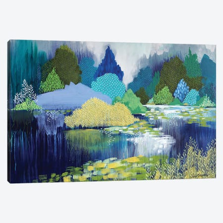 Lake In Hyde Park Canvas Print #BRE41} by Clair Bremner Canvas Art