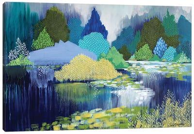 Lake In Hyde Park Canvas Art Print