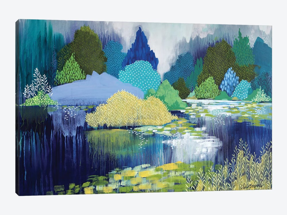 Lake In Hyde Park by Clair Bremner 1-piece Art Print