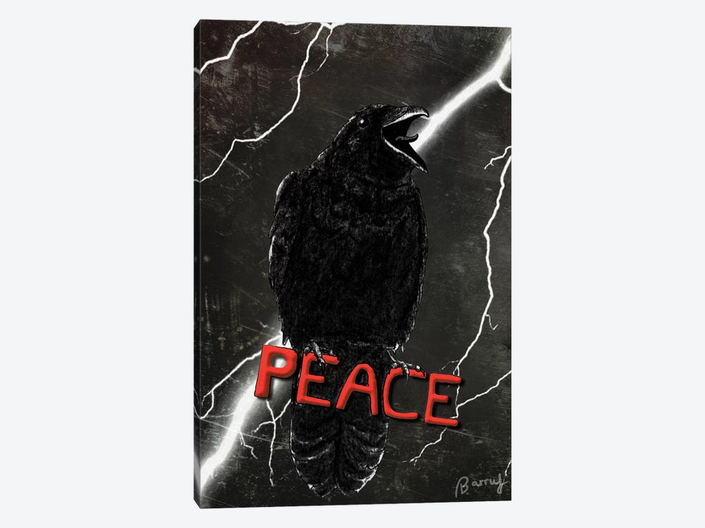 Crow For Peace by Barruf 1-piece Art Print