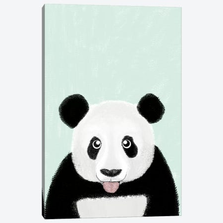 Cute Panda Canvas Print #BRF13} by Barruf Canvas Wall Art