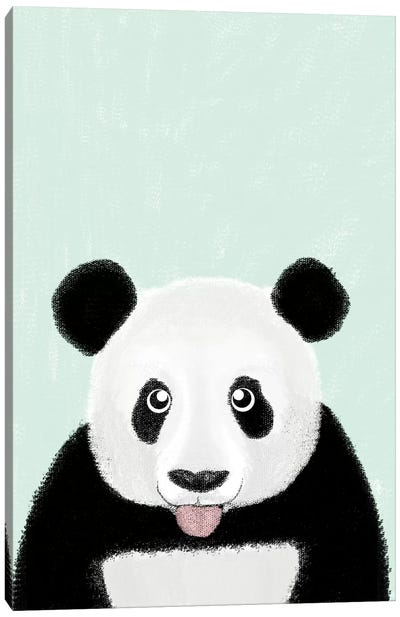 Cute Panda Canvas Art Print