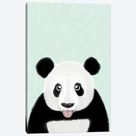 Cute Panda Canvas Print #BRF13} by Barruf Canvas Wall Art