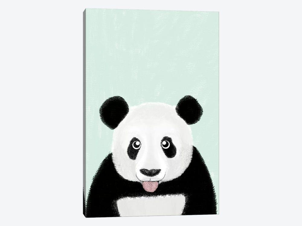 Cute Panda by Barruf 1-piece Canvas Art