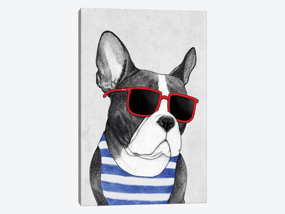 Frenchie - Summer Style by Barruf 1-piece Canvas Art