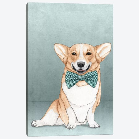 Corgi Dog Canvas Print #BRF1} by Barruf Canvas Art