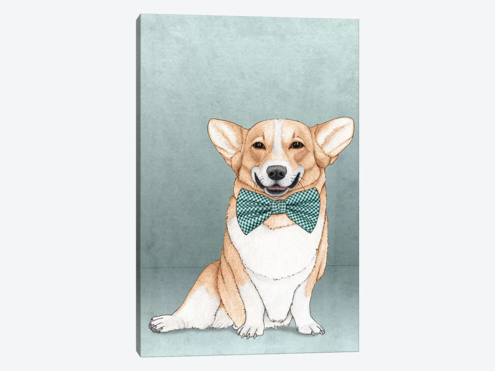 Corgi Dog by Barruf 1-piece Canvas Artwork