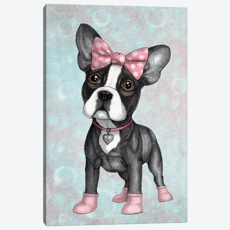 Sweet Frenchie Canvas Print #BRF21} by Barruf Canvas Art Print