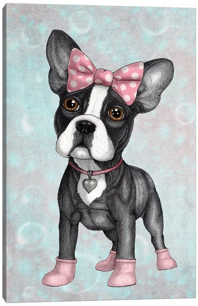 Sweet Frenchie Canvas Art Print