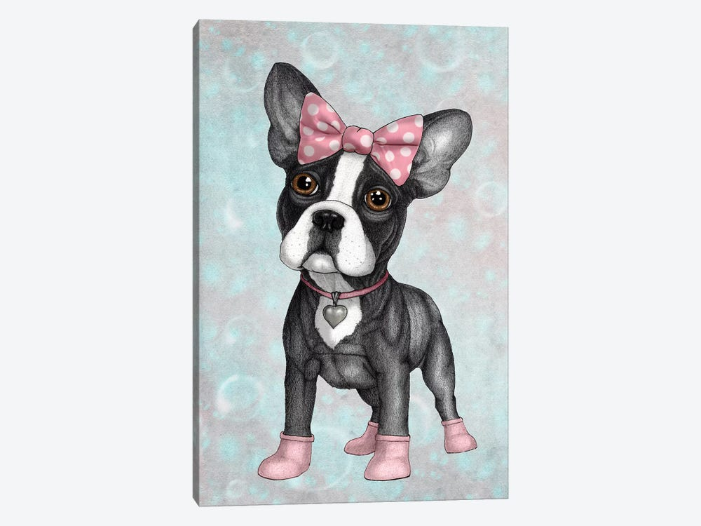Sweet Frenchie by Barruf 1-piece Canvas Art Print
