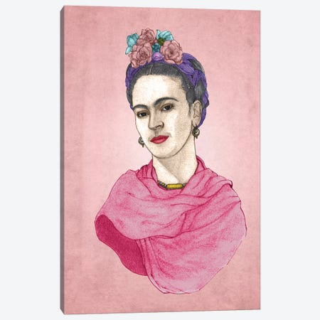 Frida Canvas Print #BRF22} by Barruf Art Print