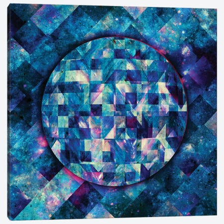 Geometric Abstract Galaxy II Canvas Print #BRF24} by Barruf Canvas Art
