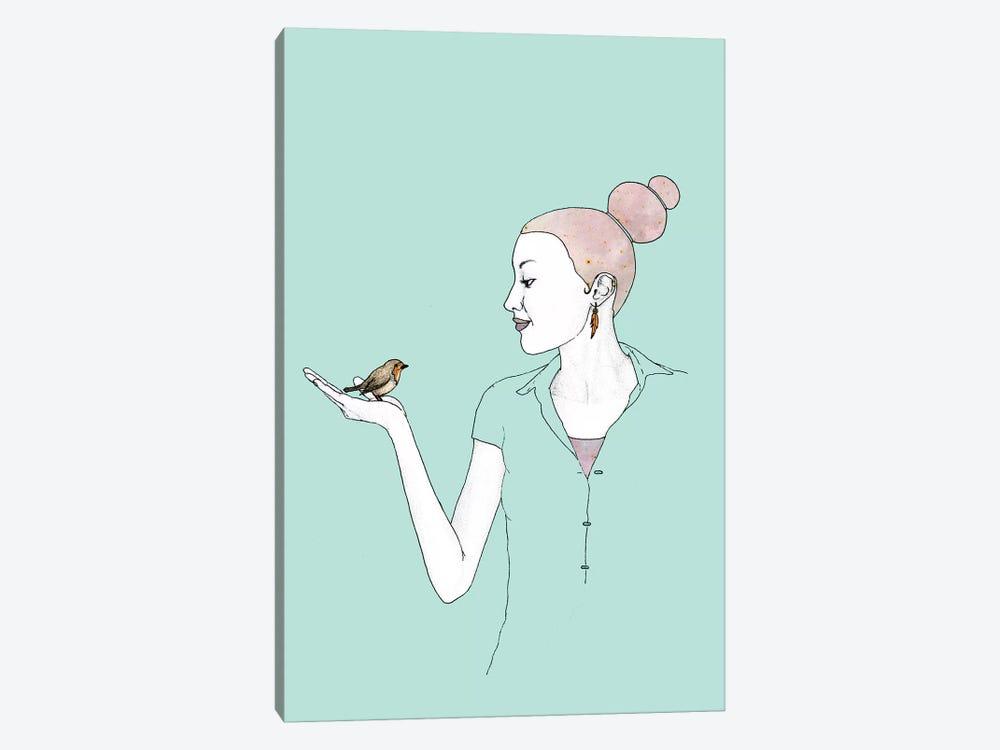 Girl With Robin by Barruf 1-piece Art Print
