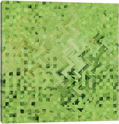 Green Galaxy Pattern Canvas Art Print