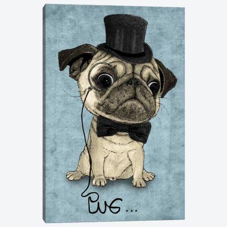 Gentle Pug Canvas Print #BRF2} by Barruf Canvas Wall Art