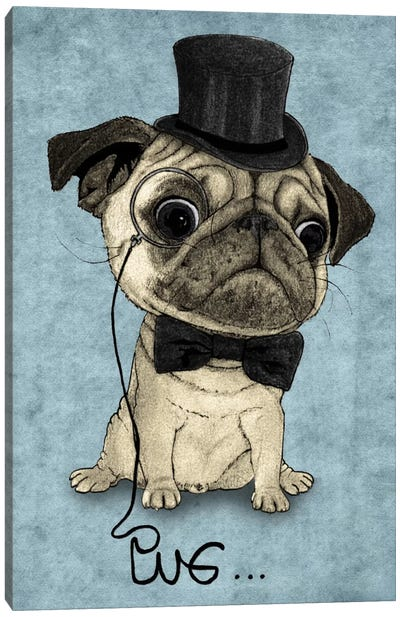 Gentle Pug Canvas Art Print