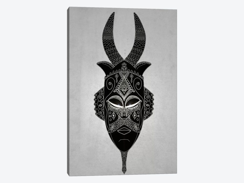 Horned Tribal Mask I by Barruf 1-piece Canvas Print