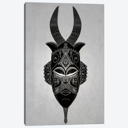 Horned Tribal Mask I Canvas Print #BRF32} by Barruf Canvas Art