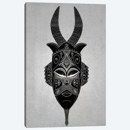 Horned Tribal Mask I Canvas Print #BRF32} by Barruf Canvas Art