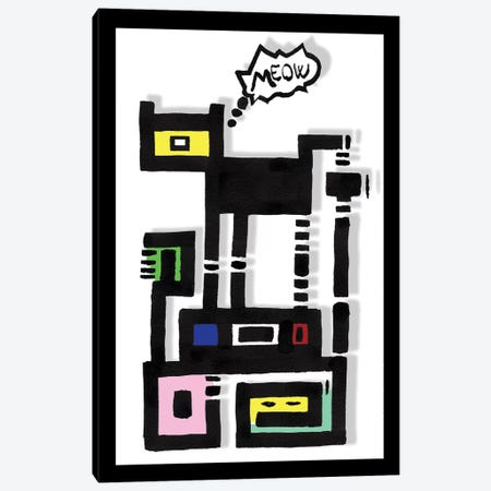 Horny Urban Cat Canvas Print #BRF34} by Barruf Canvas Print