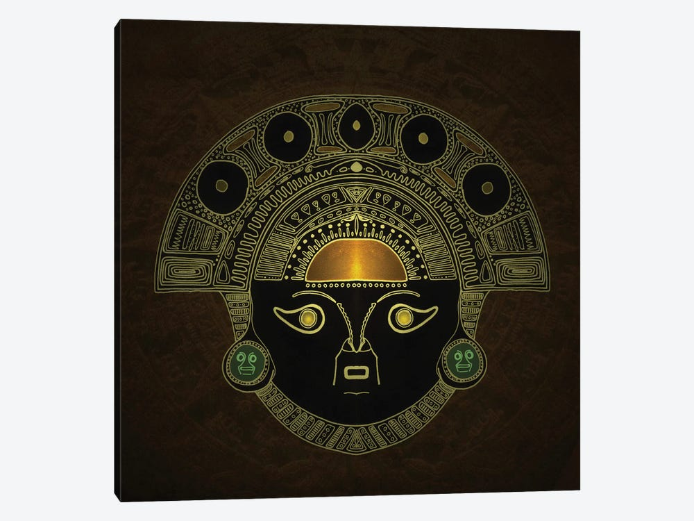 Inti (Sun God Mask) by Barruf 1-piece Canvas Wall Art